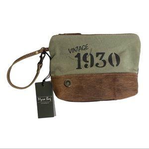 Myra Eau De Nil Small Bag Wristlet Clutch